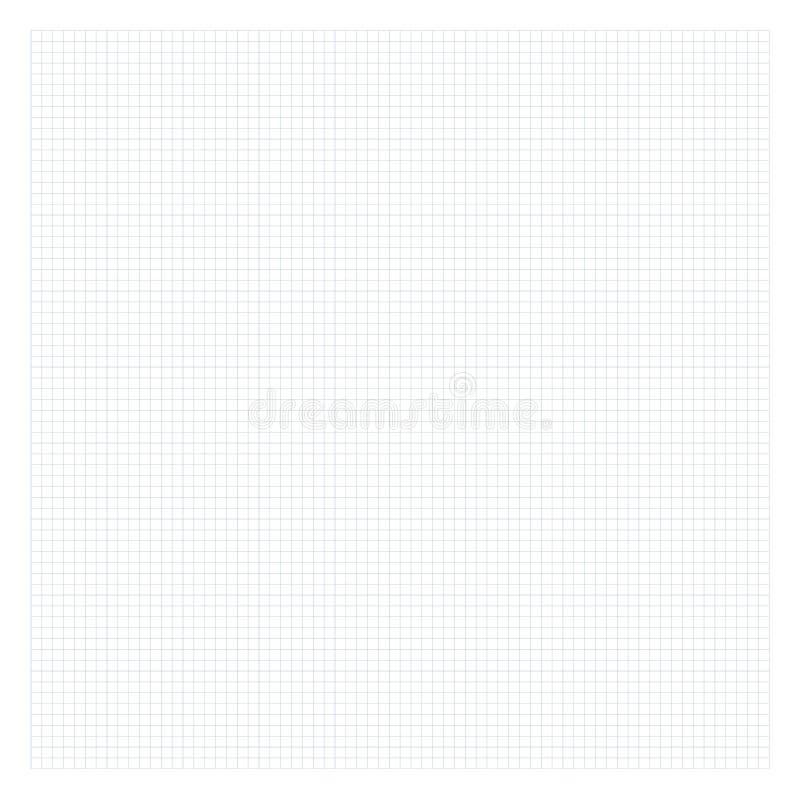 Papel gris ajustado de la matemáticas Fondo de la rejilla para la escuela stock de ilustración