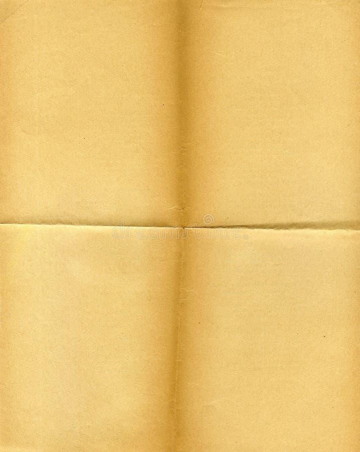 Papel grunged, amarilleado viejo fotos de archivo libres de regalías