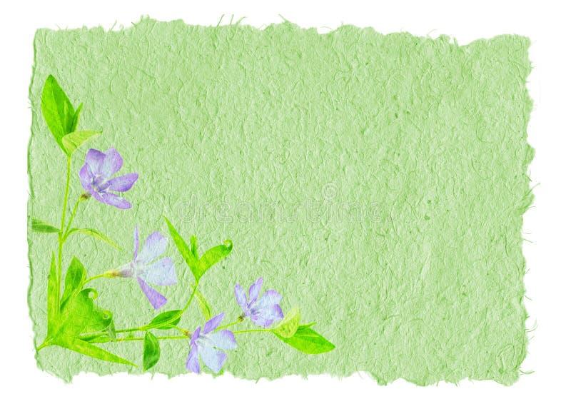 Papel Hand-made com flor imagem de stock royalty free