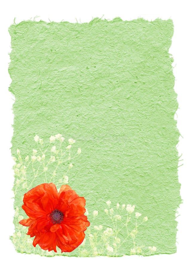 Papel Hand-made com flor fotos de stock royalty free