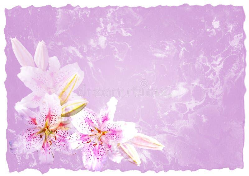 Papel Handmade com flores ilustração stock