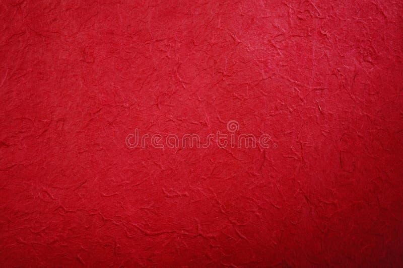 Papel Handmade vermelho foto de stock royalty free