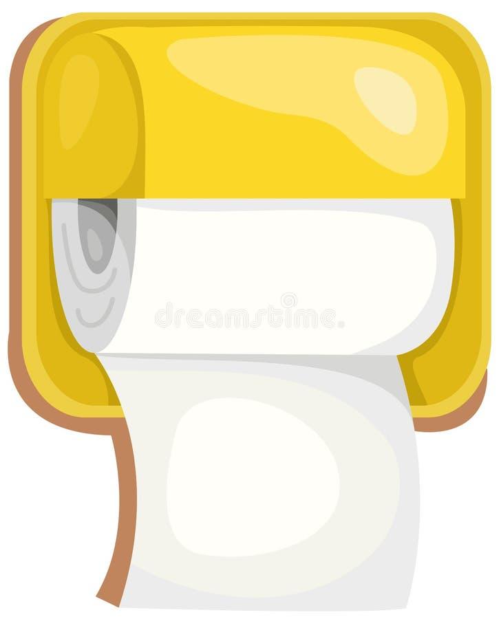 Papel higiénico stock de ilustración