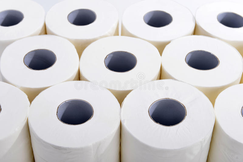 Papel higiénico fotos de archivo