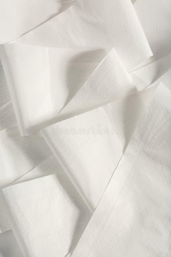 Papel higiénico branco foto de stock