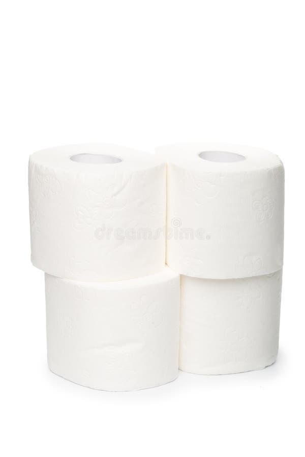 Papel higiénico no fundo branco imagem de stock royalty free