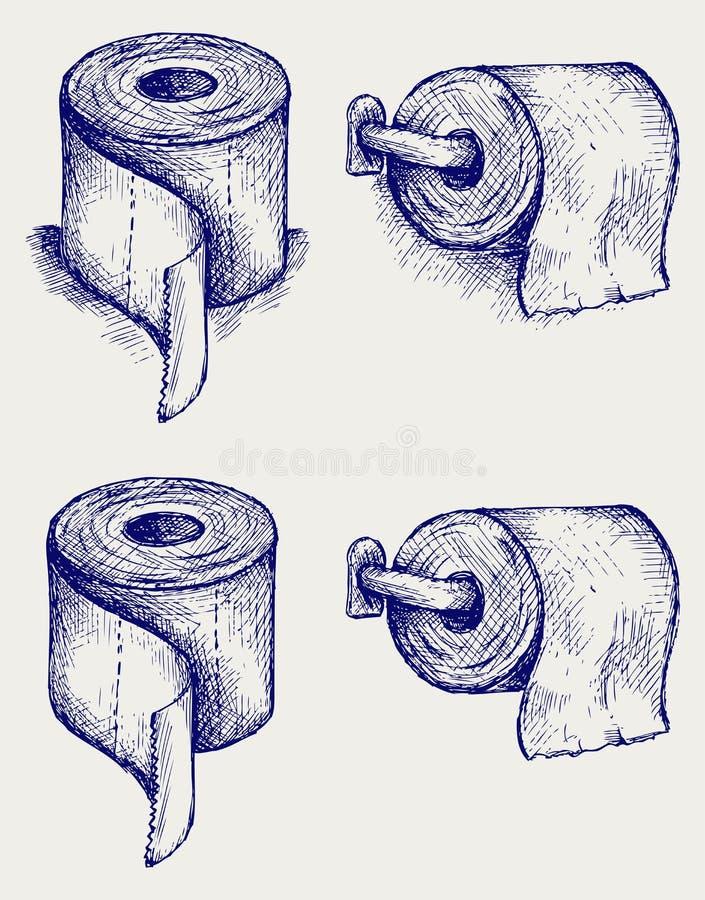 Papel higiénico simples ilustração stock