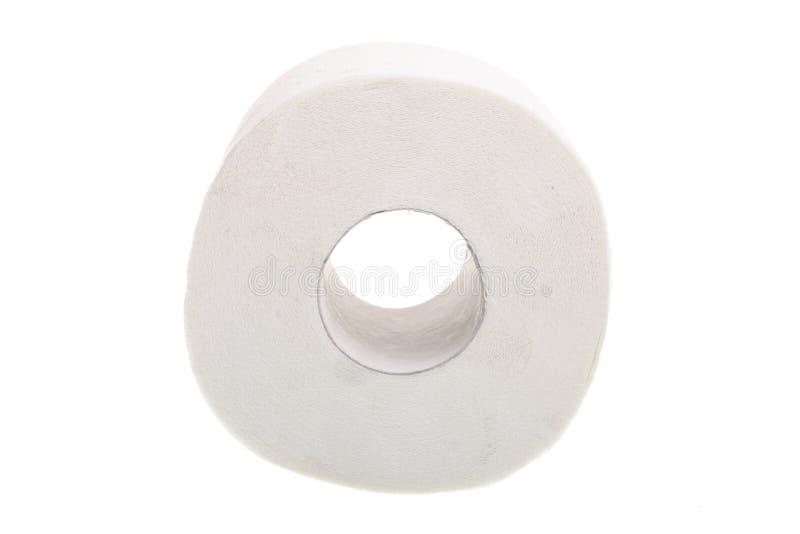 Papel higiênico no fundo branco foto de stock