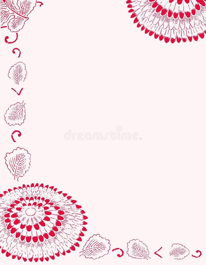 Papel II del crisantemo stock de ilustración