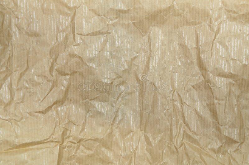 Papel impermeable a la grasa arrugado, detalle fotos de archivo libres de regalías