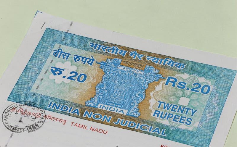 Papel indiano do rendimento imagem de stock royalty free
