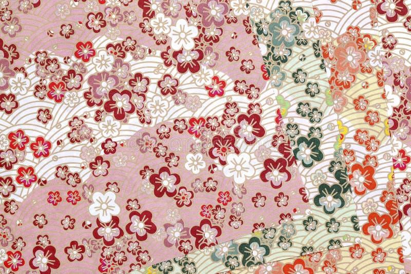Papel japonês tradicional do origâmi do teste padrão ilustração royalty free