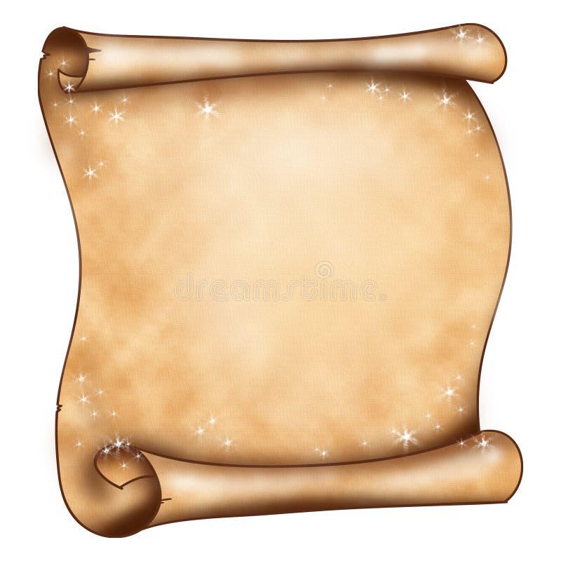 Papel mágico velho ilustração do vetor