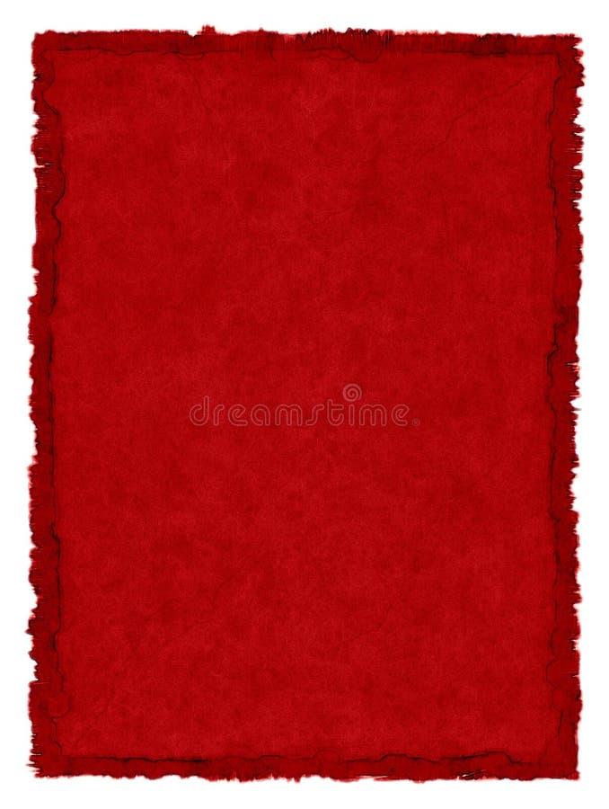 Papel manchado rojo stock de ilustración