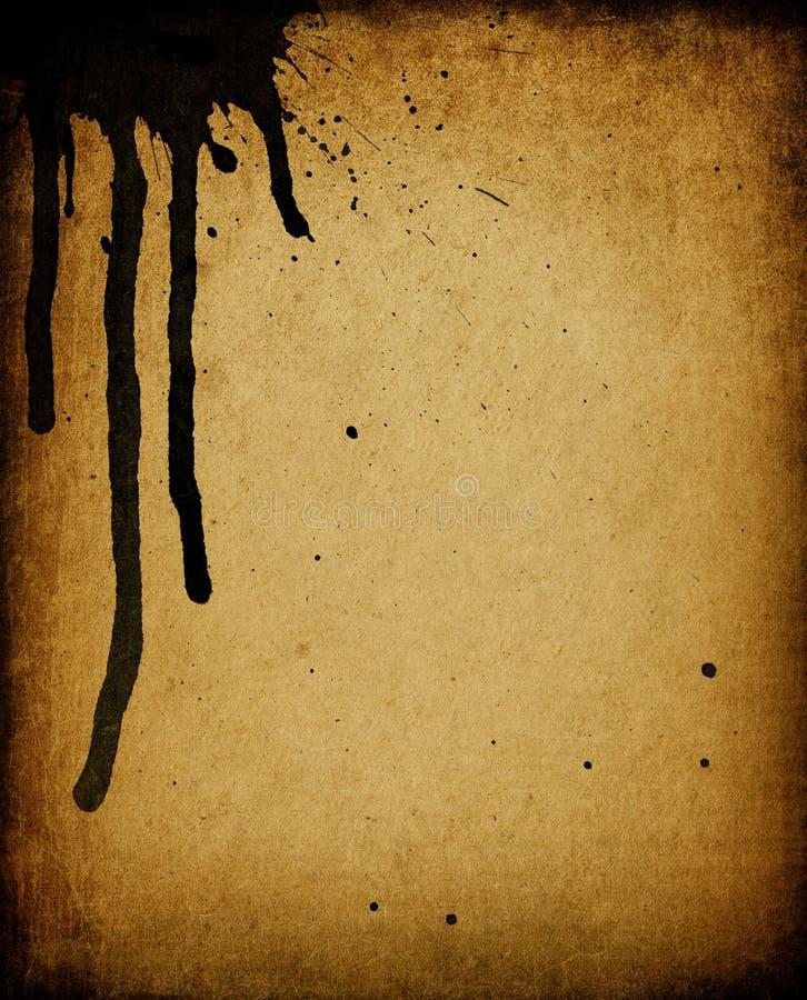 Papel manchado vintage. ilustração do vetor