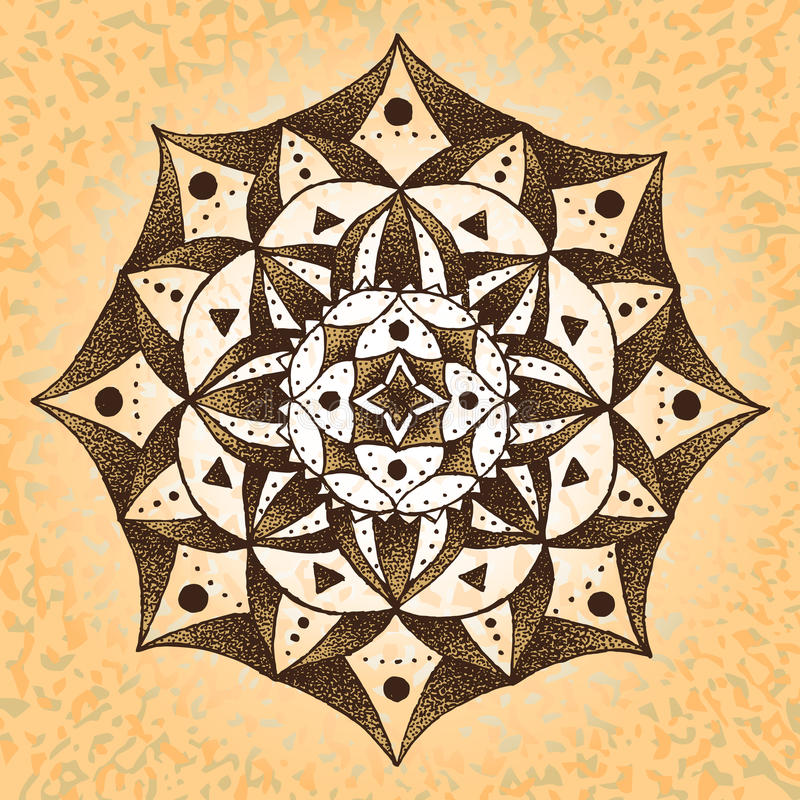 papel Mandala-viejo fotografía de archivo