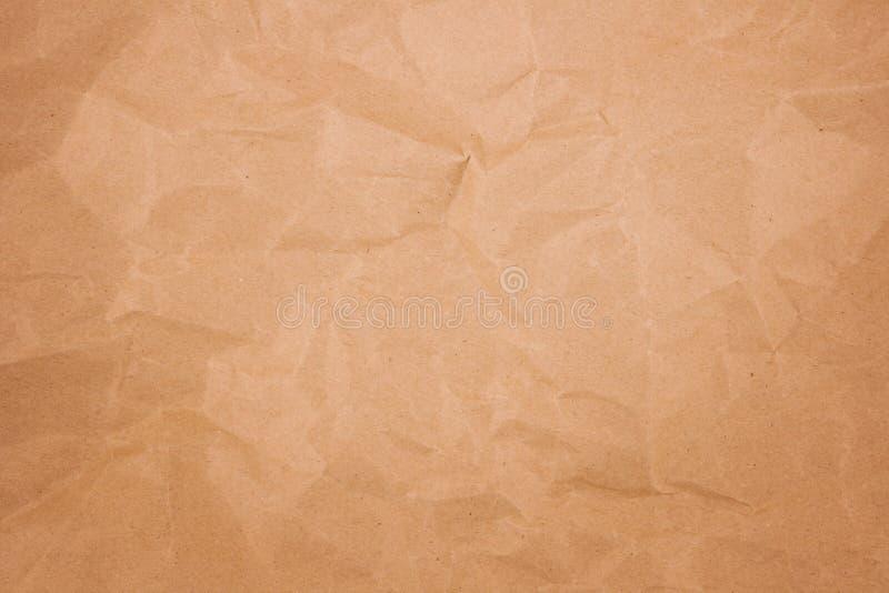 Papel marrón del pliegue fotografía de archivo libre de regalías