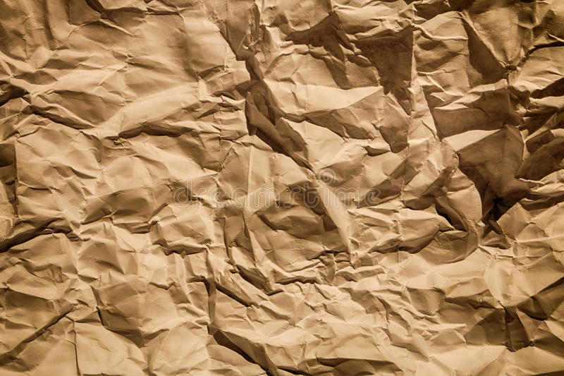 Papel marrón desgreñado de la cartulina foto de archivo libre de regalías