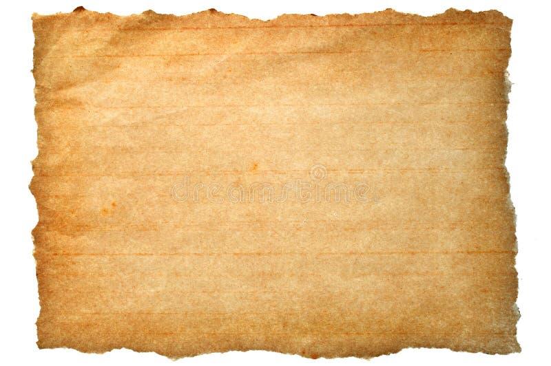 Papel marrón rasgado fotos de archivo