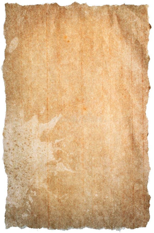 Papel marrón rasgado fotografía de archivo libre de regalías