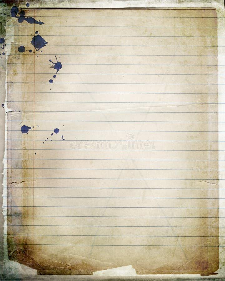 Papel mergulhado do caderno ilustração royalty free