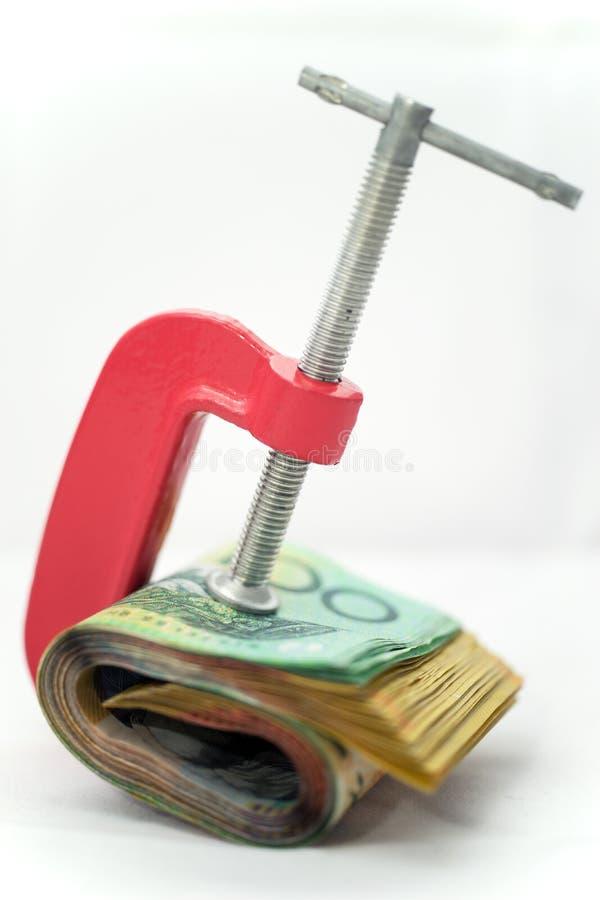 Papel moeda apertado imagem de stock royalty free