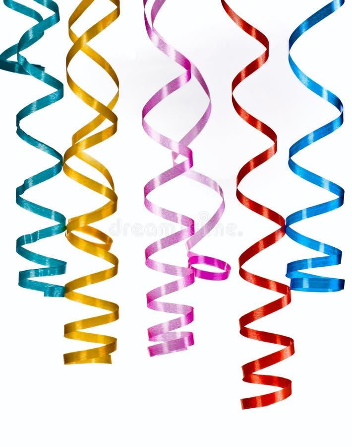 Papel multicolor de la secuencia que se encrespa imagen de archivo