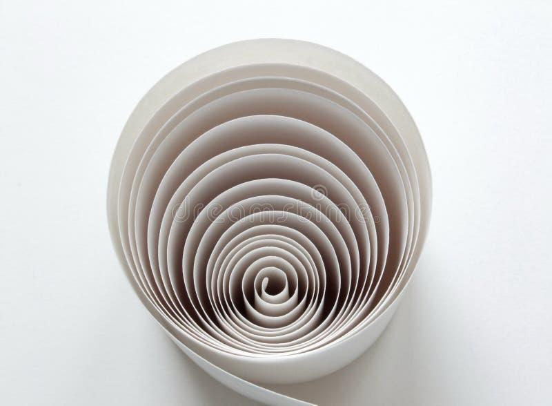 Papel na espiral imagens de stock