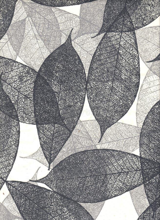 Papel natural con las hojas, (resolución del hight) fotografía de archivo libre de regalías