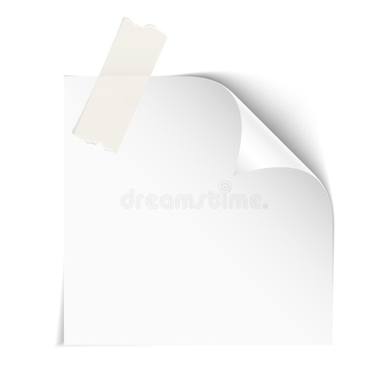 Papel no branco ilustração do vetor