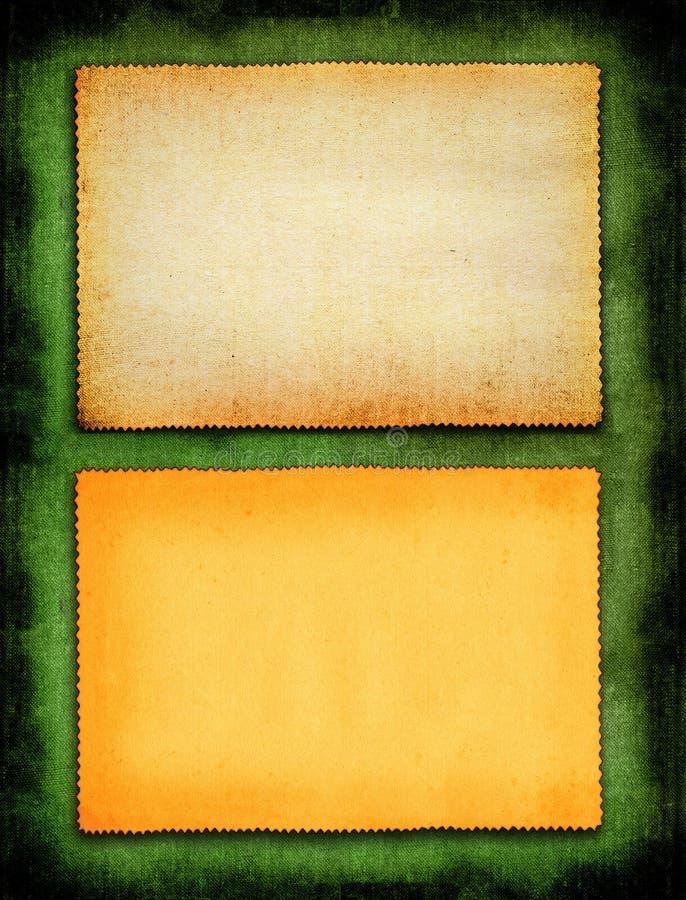 Papel no fundo verde imagem de stock