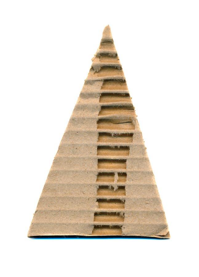 Papel ondulado do triângulo isolado no branco fotos de stock royalty free