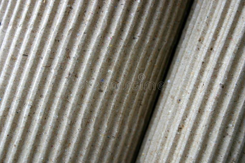 Papel Ondulado, Rolled-up, Close-up Imagens de Stock Royalty Free