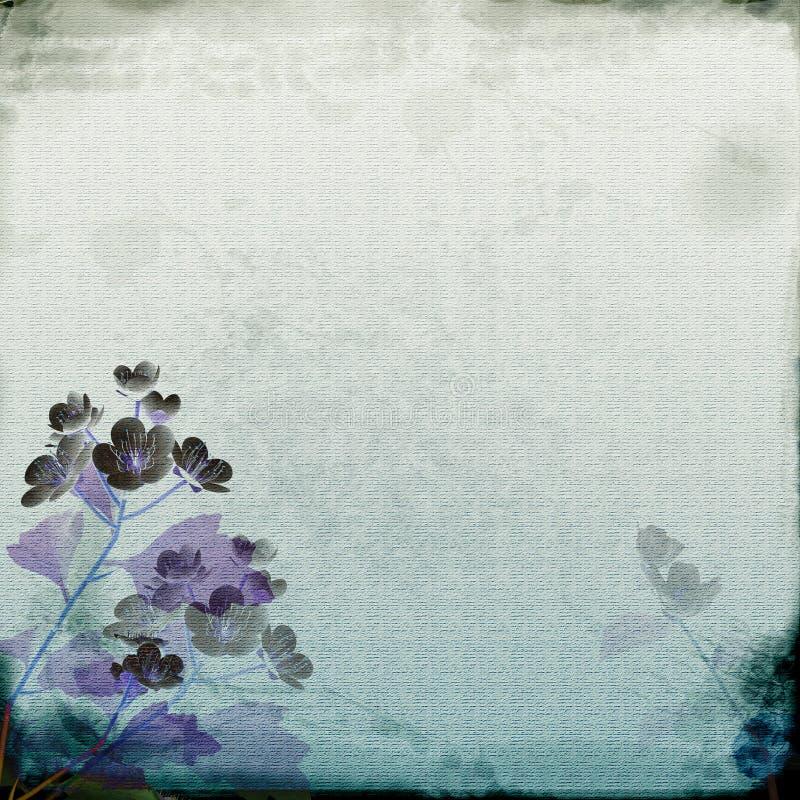 Papel púrpura azul stock de ilustración