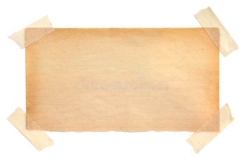Papel para cartas envelhecido fotografia de stock
