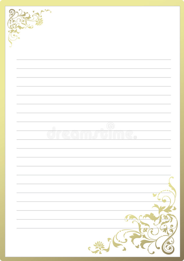 Papel para cartas extravagante ilustração do vetor