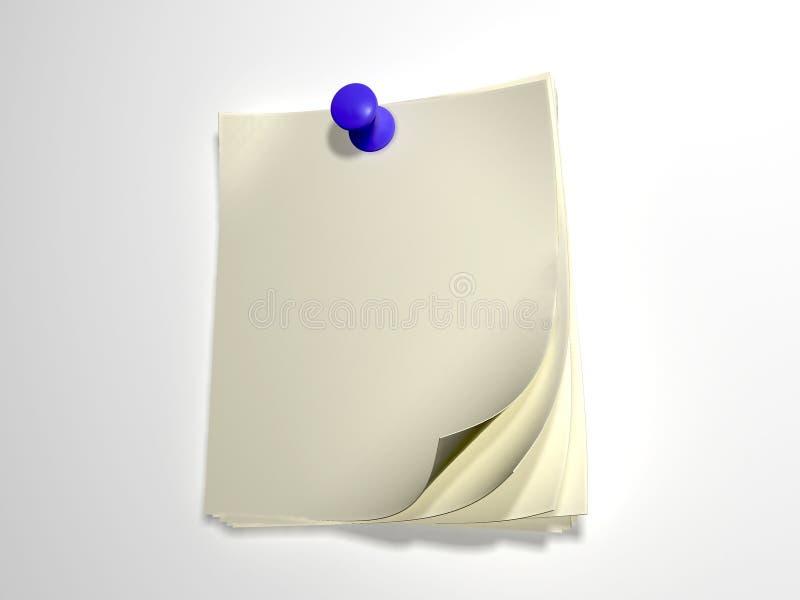 Papel para a escrita ilustração do vetor