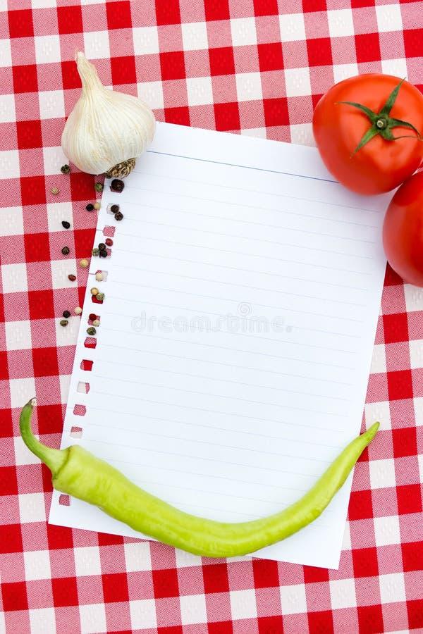 Papel para las recetas foto de archivo