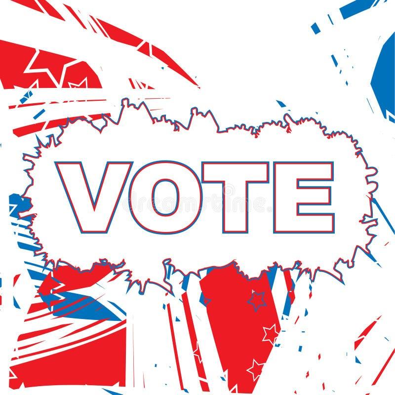 Papel patriótico de los E.E.U.U. stock de ilustración