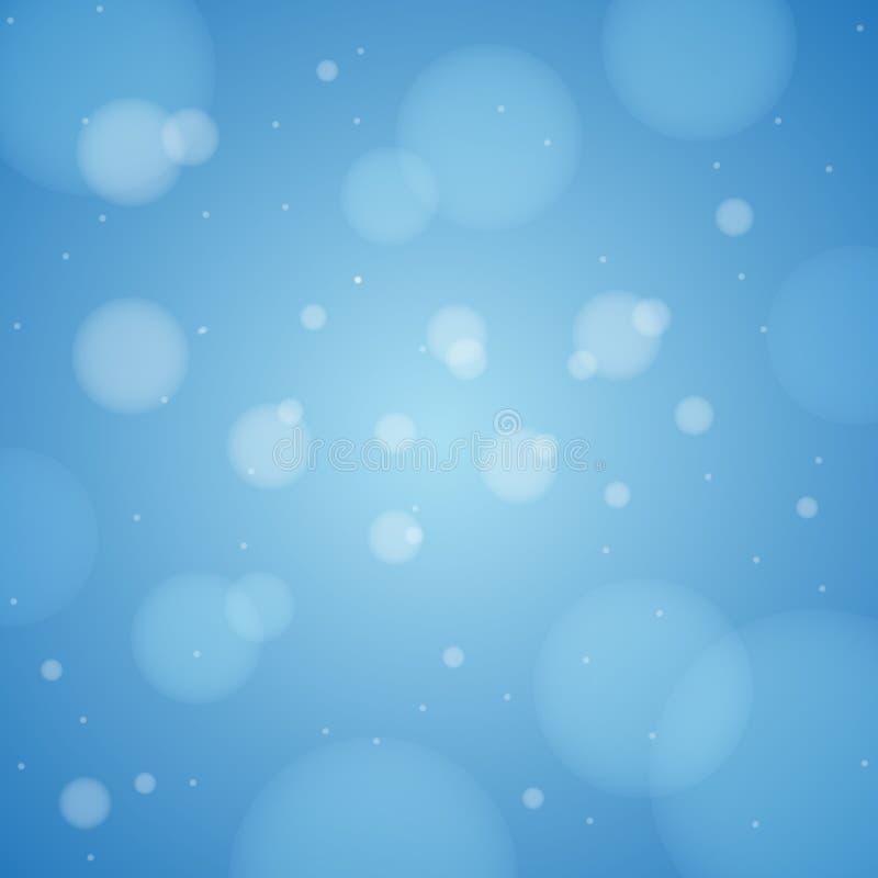 Papel pintado abstracto azul del fondo de Bokeh ilustración del vector
