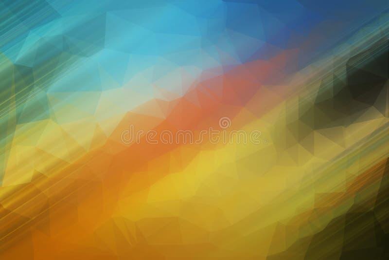 Papel pintado abstracto del efecto del polígono stock de ilustración