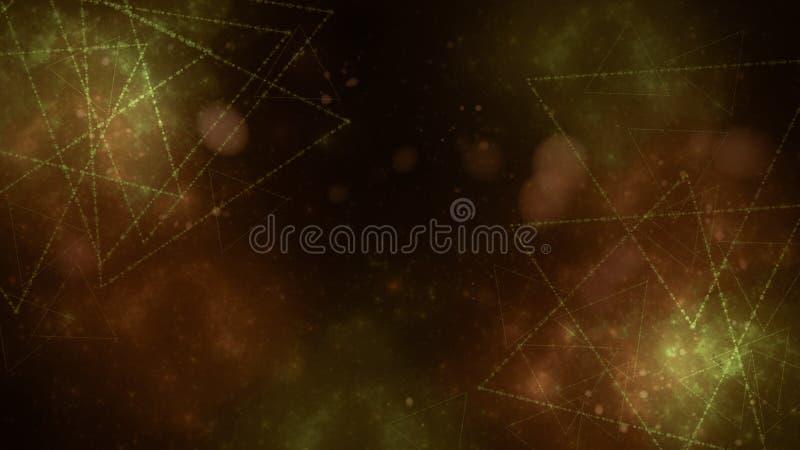 Papel pintado abstracto digital oscuro ilustración del vector