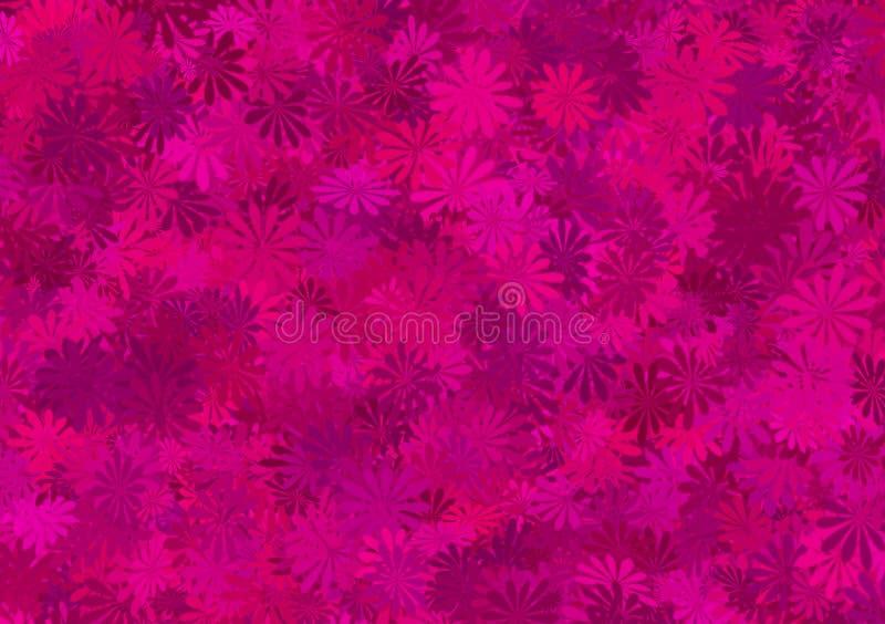 Papel pintado acodado estampado de flores púrpura de la sombra libre illustration