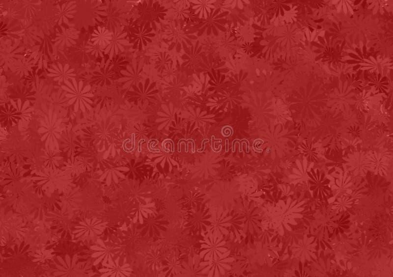 Papel pintado acodado estampado de flores rojo de la sombra libre illustration