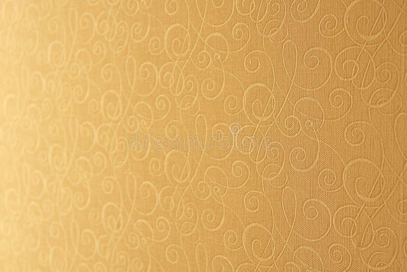 Papel pintado amarillento. Profundidad del campo baja. foto de archivo