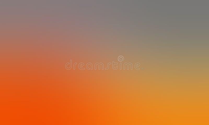 Papel pintado amarillo y gris anaranjado del fondo de la falta de definición del color en colores pastel libre illustration