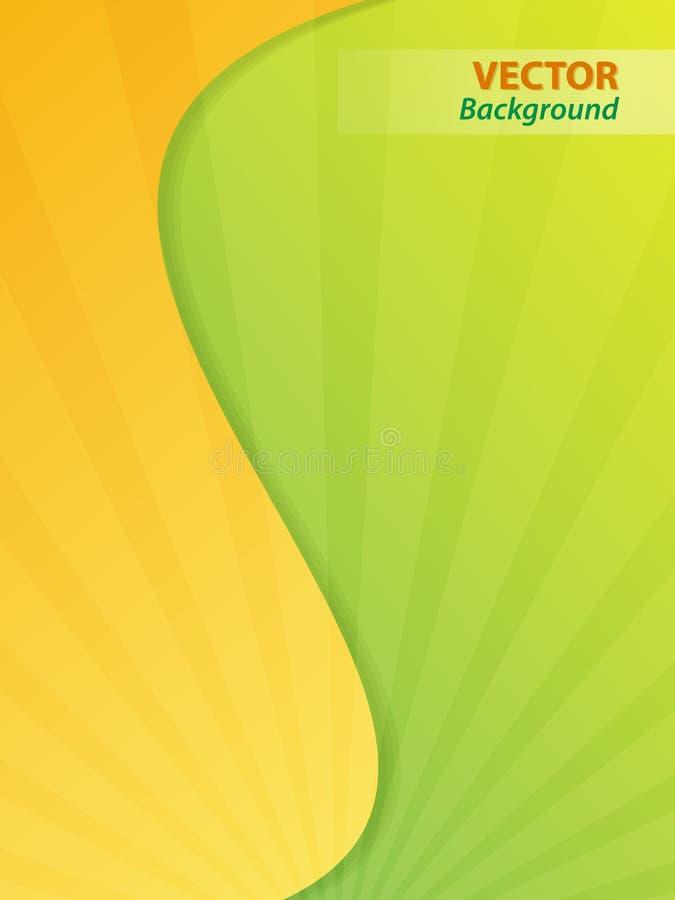 Papel pintado amarillo y verde libre illustration