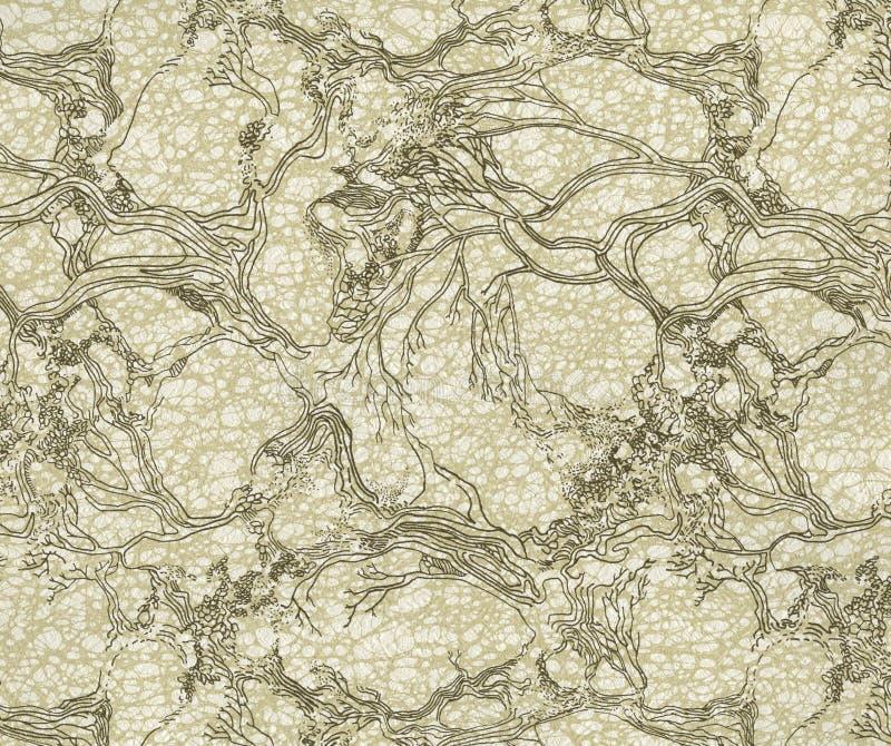 Papel pintado antiguo de alta resoluci n con el estampado - Papel pintado antiguo ...