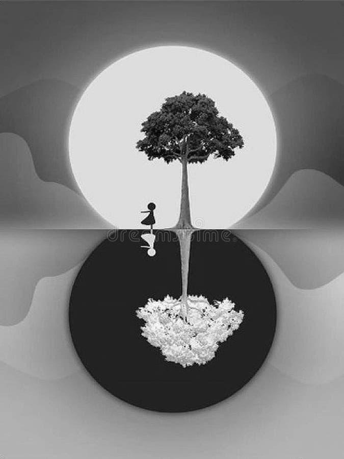Papel pintado azul blanco y negro para el hogar stock de ilustración