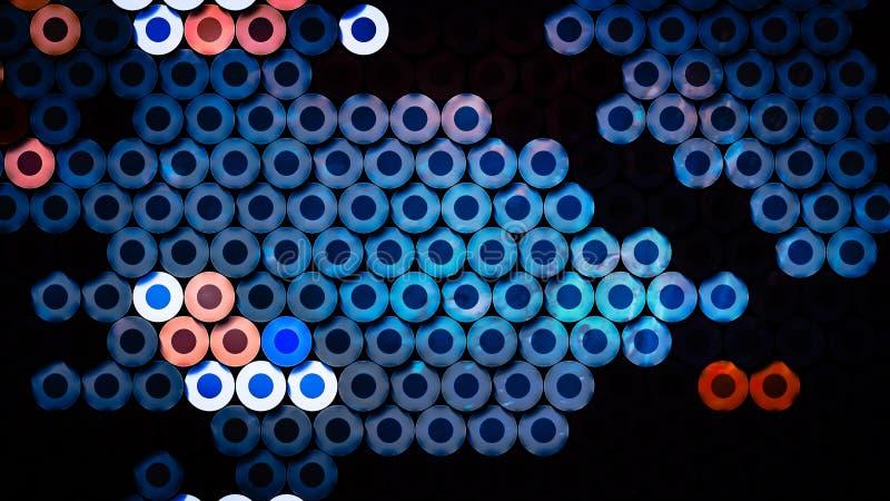 Papel pintado azul del tubo de las sombras de la galaxia stock de ilustración